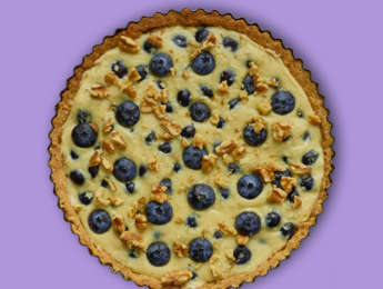 Picture of Peek-a-Blue White Chocolate Tart