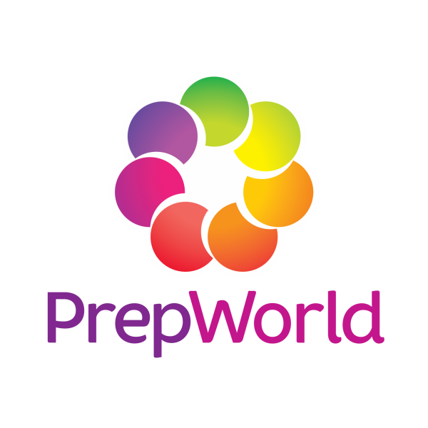 Prep World Logo Keyline Colour Text