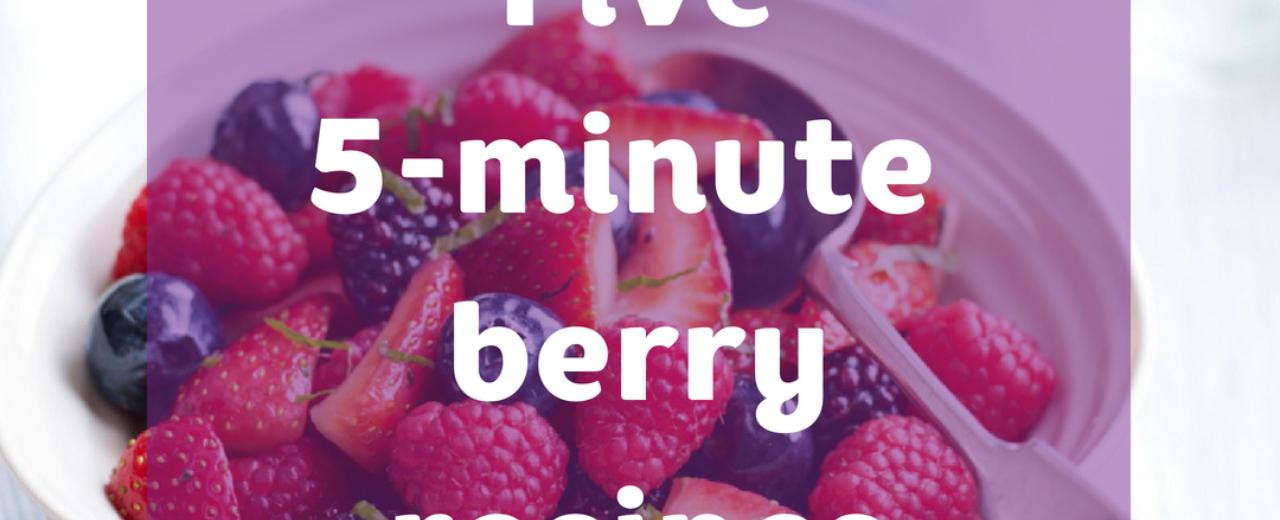 5 minute recipes