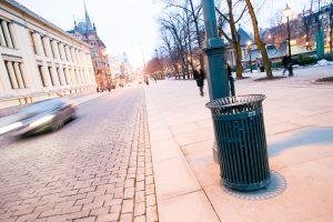 Søppelkasser Karl Johan