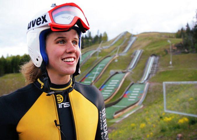 Skihopping med Anniken Mork