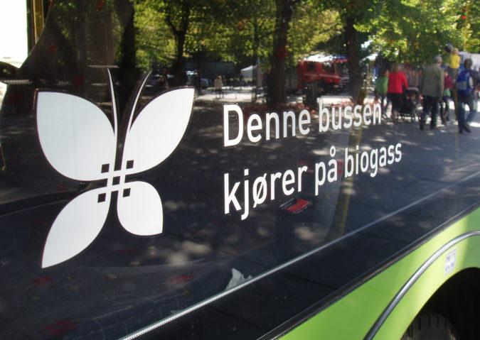 Denne bussen kjører på biogass