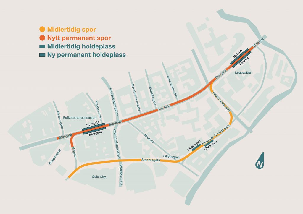 Kart over Storgata-prosjektet