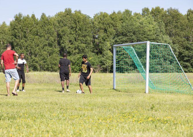 Fotball på Langøyene