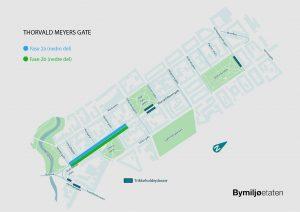 Kart med illustrasjon over arbeidene i fase 2