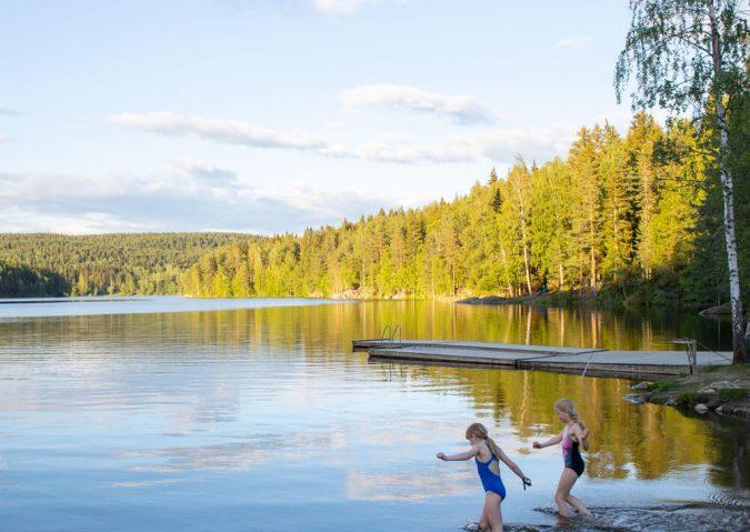 Bading i Nøklevann, Østmarka