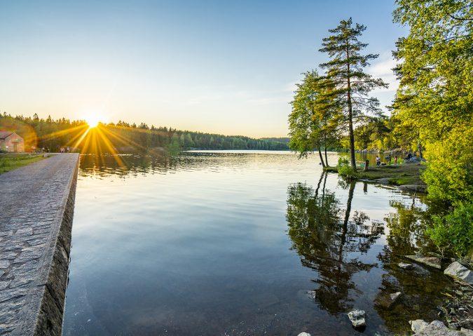 Steinbruvann er et ganske stort og populært vann ikke langt fra Grorud.
