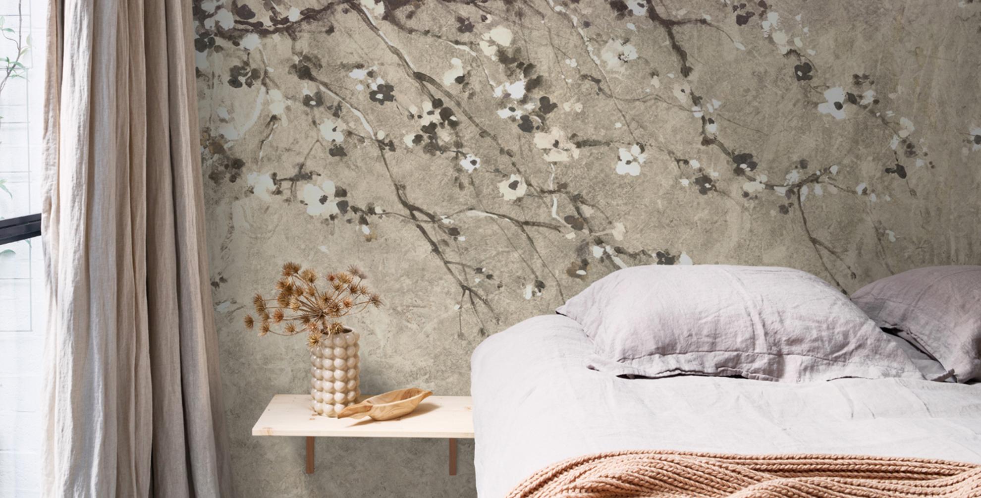 Een bloeiende lente muur?