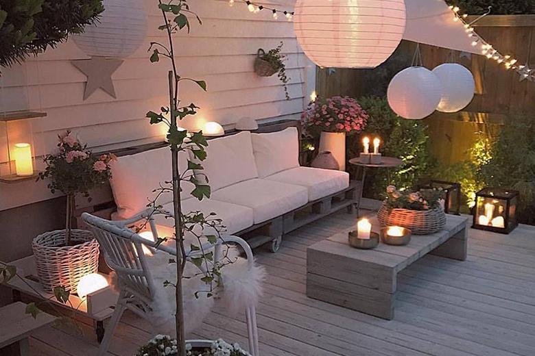 Bohemian stijl tuin: de verlichting