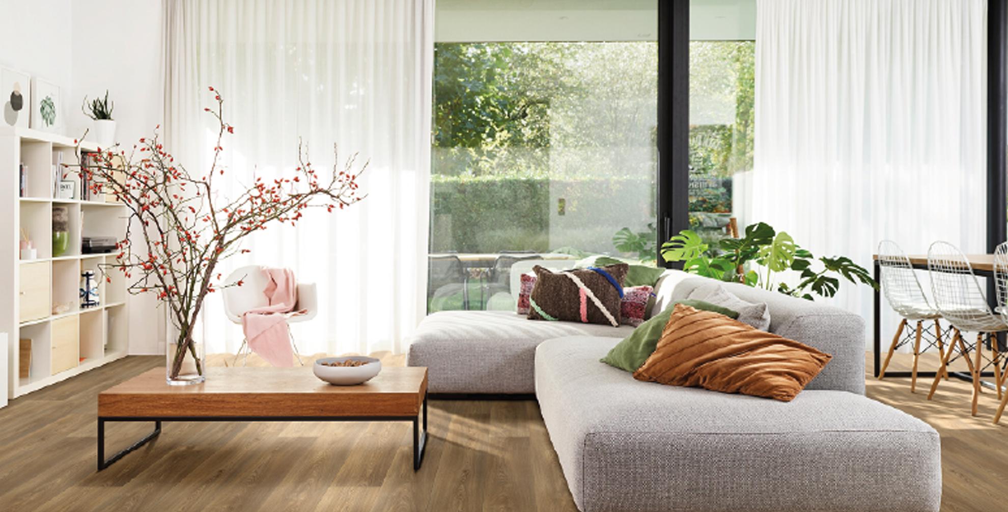 Vloer + raamdecoratie = style statement