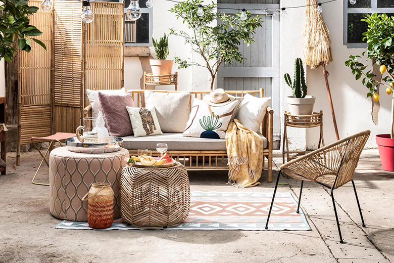 Bohemian stijl tuin: de accessoires