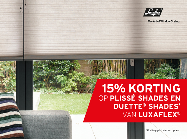 raamdecoratie Luxaflex