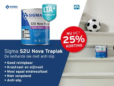 Korting 25% S2U Nova traplak