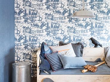 <b>Behang</b> sfeervol trendy bij u aan huis