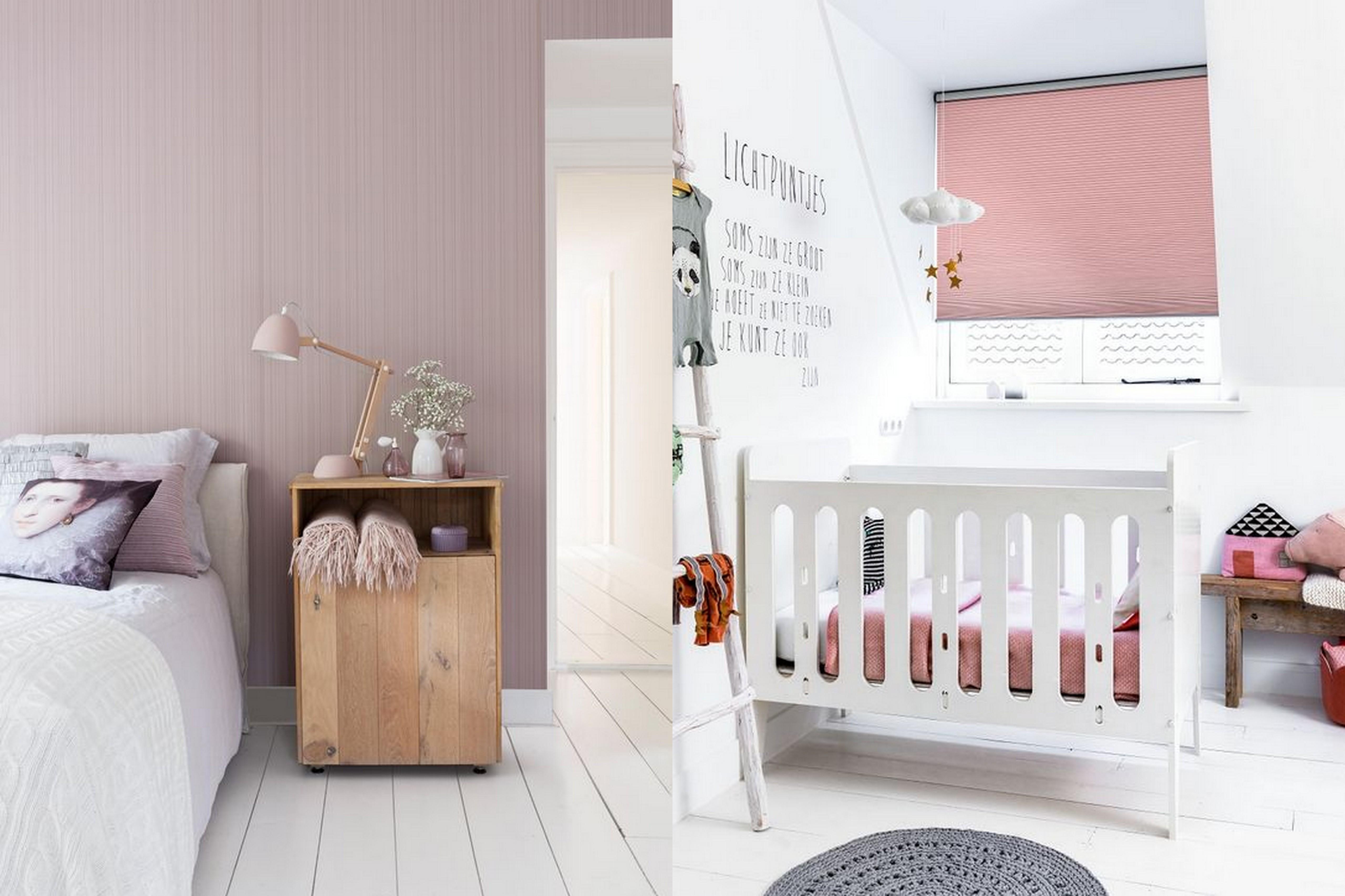 Kleurinspiratie roze - Witte muur kamer ...