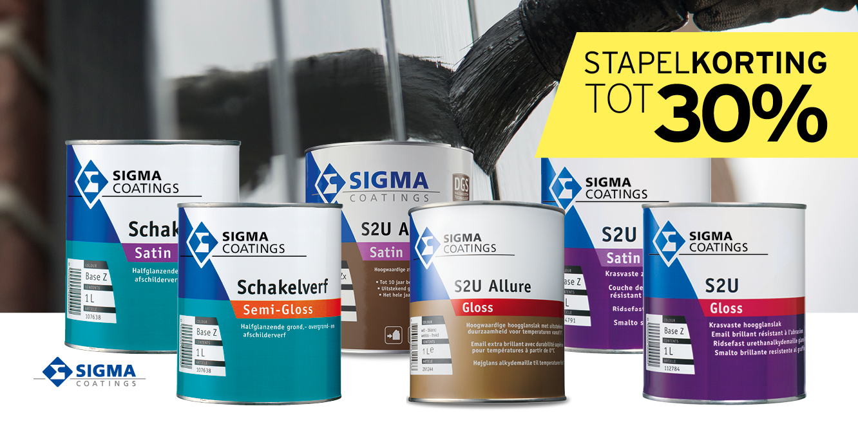 Verf Sigma 30 procent