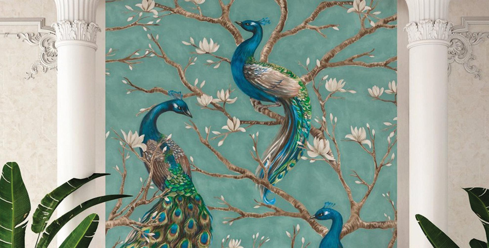 <b>Behang</b> met ornamenten of <b>pastels</b>?