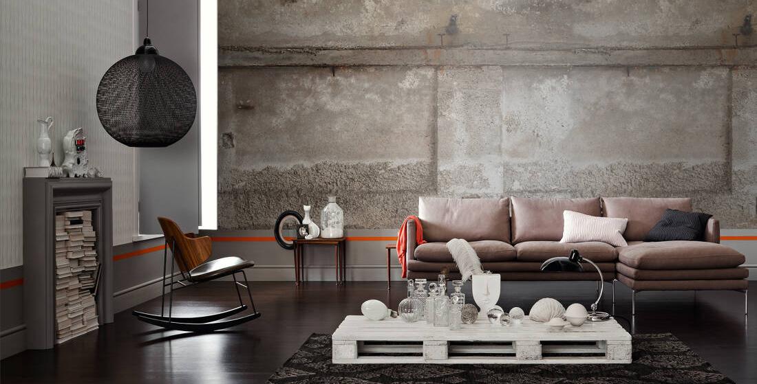 Hard beton match je met zachte materialen