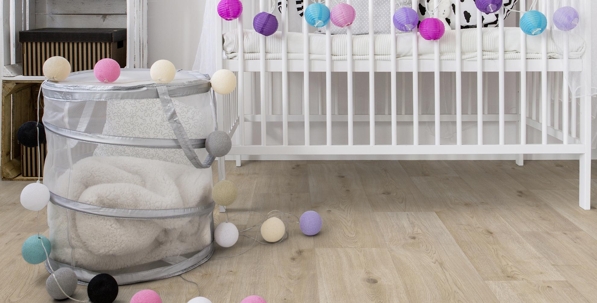 Welke vloer is<b> babykamerproof</b>?