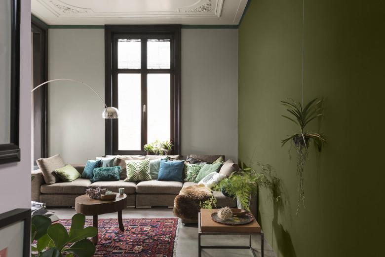 Woonkamer Muur Verven : Olijfgroene muur woonkamer. cool woonkamer kleuren muur artikillcom