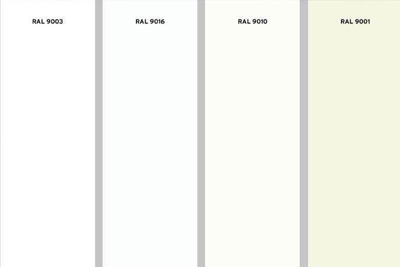 Welke tinten wit zijn er?