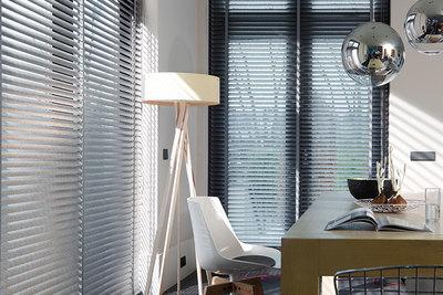 Aluminium jaloezieën horizontale raambekleding in verschillende lamelbreedtes leverbaar