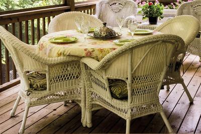 Rieten meubels opknappen met verf