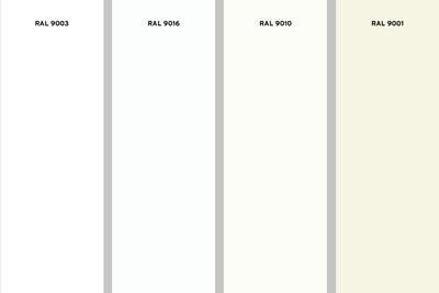 RAL 9010 en welke tinten wit zijn er nog meer?