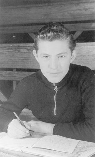 06 Wies Gerrit 1954 zoon Kobus in schoolbank