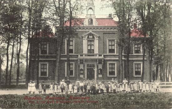 Hoofdweg W 0671 1907 Kindergroep Ingekleurd