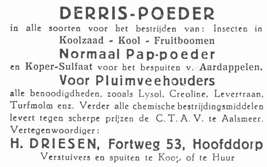 Fortweg 0053 1938 H Driesen Vertegenwoordiger