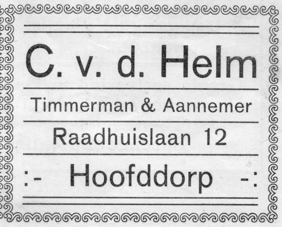 Raadhuislaan 0012 Helm C vd 1927 Advertentie