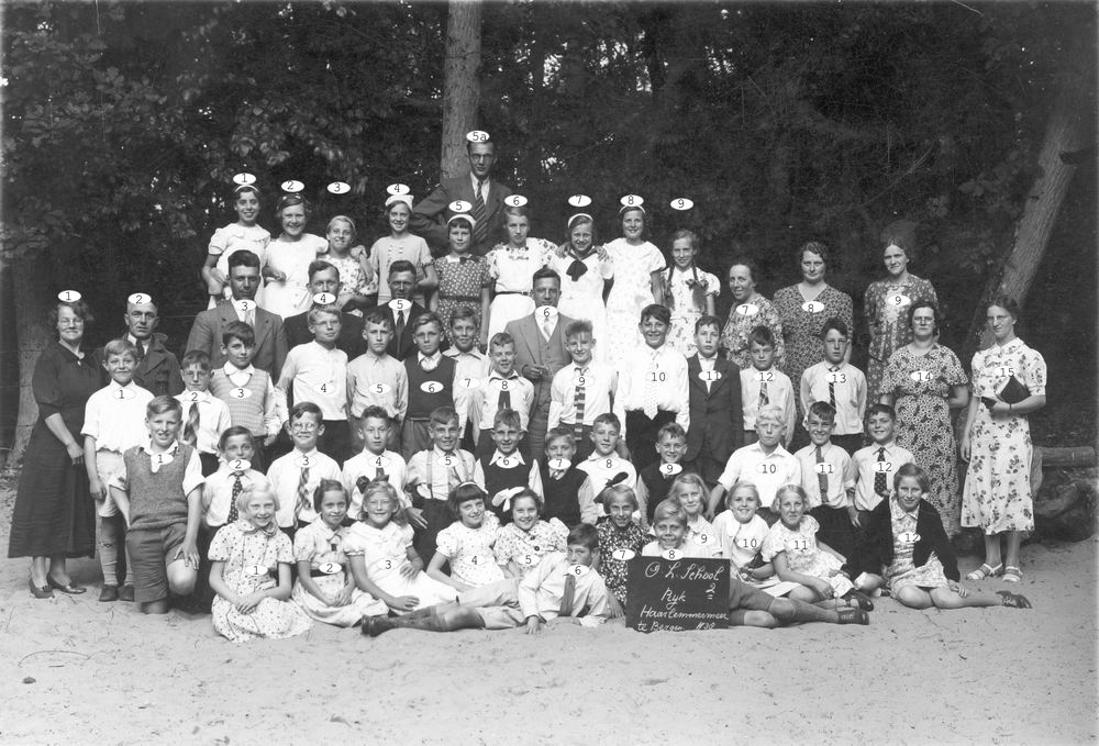 Openbare School 02 1938 Schoolreisje naar Bergen_Index