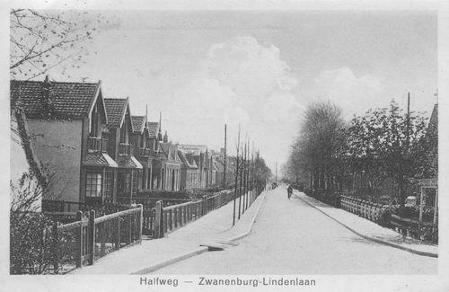 Lindenlaan 1933± zicht vanaf de Dijk