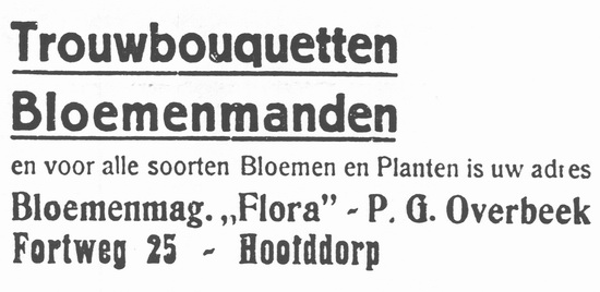 Fortweg 0025 1935 Bloemenmagazijn Flora v PG Overbeek