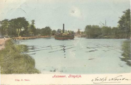 Aalsmeerderdijk 038_ 1903 met stoomboot Ingekleurd.jpg