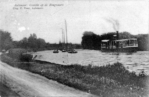 Aalsmeerderdijk 038_ 1909 met Stoomboot