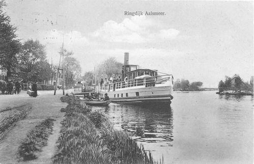 Aalsmeerderdijk 038_ 1913 met Stoomboot aan Steiger