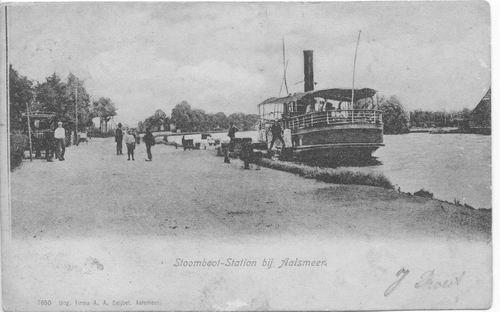 Aalsmeerderdijk 0391 1900 Bloemink met Carsjensboot
