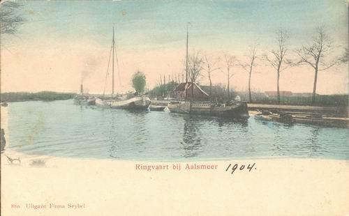 Aalsmeerderdijk 041_ 1903 Kanaalstraatbrug naar Z Ingekleurd