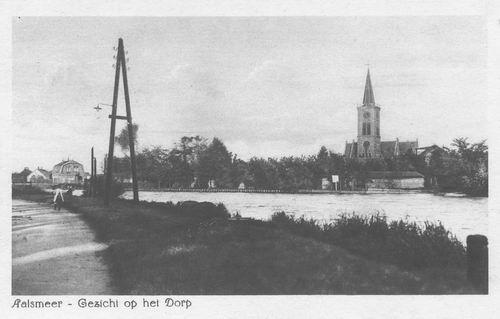 Aalsmeerderdijk 041_ Overzijde 1919 met NH Kerk 02
