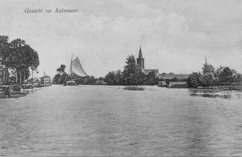 Aalsmeerderdijk 041_ Overzijde 1926 met NH Kerk