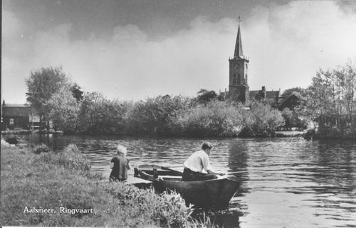Aalsmeerderdijk 041_ Overzijde 1957 met NH Kerk