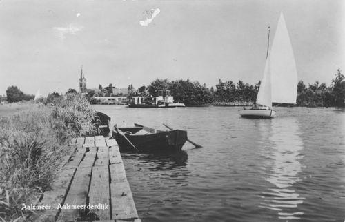 Aalsmeerderdijk 041_ Overzijde 1958 met NH Kerk