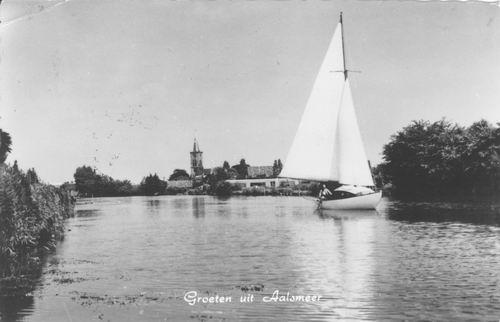 Aalsmeerderdijk 041_ Overzijde 1967 met NH Kerk