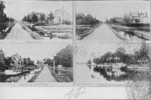 Aalsmeerderdijk 0673 4-luik met oa de Uil voor 1905