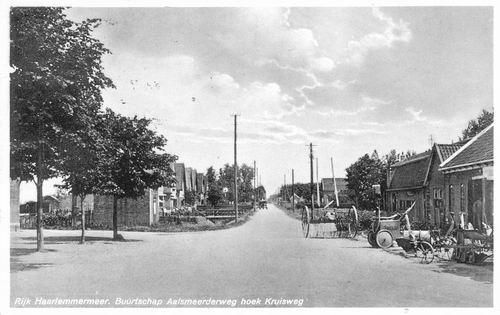 Aalsmeerderweg O 0624 1938 Smederij de Vos en zicht naar Noorden