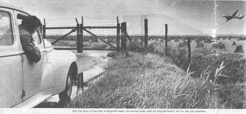 Aalsmeerderweg W 016_ 1956 bij Afgesloten weg bij dorp Rijk