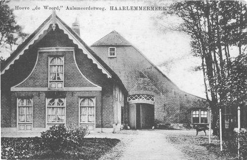 Aalsmeerderweg W 0249 1918 Hoeve De Woerd