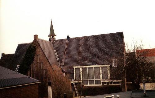 Aalsmeerderweg W 0463 1990 Stormschade Geref Kerk